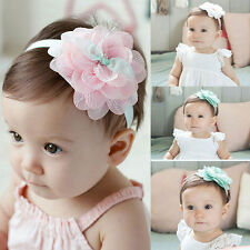 New Design Cute Lovely Girl Toddler Lace Flower Hair Band Headband Accessories