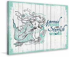 """Marmont Hill """"Mermaid Kisses 2"""" Graphic Art on Wrapped Canvas"""