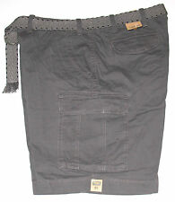 Foundry Belted Cargo Shorts, Dark Gray, Big & Tall size 46, NWT