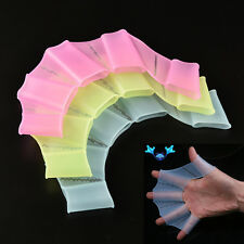 Good Silicone Swimming Fins Hand Webbed Flippers Swim Gear Training Gloves  0h