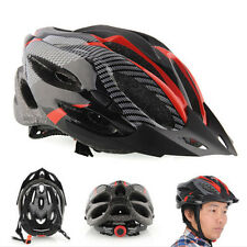 Cycling Bicycle Adult Mens Bike Helmet Red carbon color With Visor Mountain e0