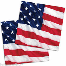 16 Sports USA AMERICA Stars Stripes Flag Party 25cm Paper Luncheon Napkins