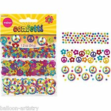 Groovy 1960's Hippy Peace Love CND Psychedelic Foil Sprinkle Confetti 60s