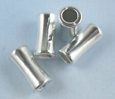 48/400pcs Tibetan Silver Hole: 3mm Tube Smooth Spacer Beads 5x10.5mm