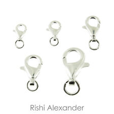 925 Sterling Silver Lobster Claw Clasp Component for Jewelry Making