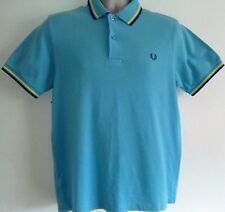 Fred Perry Turquoise Twin Tipped M1200 Pique Polo Size M Mod Ska Scooter Casuals