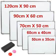Magnetic Dry Wipe Whiteboard White Notice Memo Board Office Meeting School& Home