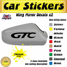 Car Stickers Vauxhall Astra GTC Mirror Cover Decals 70mm