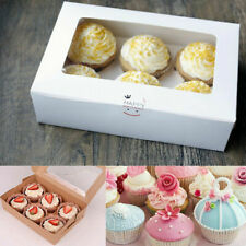 2-6 Holes Cupcake Box Cup Cake Packing Wedding Baking Boxes With Inserts Muffin