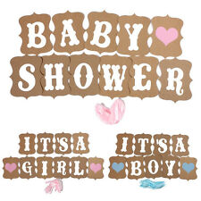 It's A Girl/Boy Baby Shower Bunting Party Banner Garland Photo Props Decor Sign