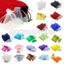 100pcs 7x9cm Organza Gift Bags Candy Jewellery Storage Pouches Wedding Favours