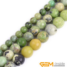 """Green Turquoise Gemstone Round Beads For Jewelry Making Strand 15"""" 6mm 8mm 10mm"""