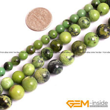 "Green Turquoise Gemstone Round Beads For Jewelry Making Strand 15"" 6mm 8mm 10mm"
