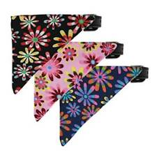 Crazy Daisies Bandana Dog Collar * 14 Daisy Flowers Designs * Puppy Love