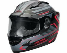OEM Polaris Gloss Red Cyclone 2.0 Helmet w/ Electric Shield DOT approved S-4XL