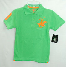 NWT BEVERLY HILLS POLO CLUB boys CLASSIC POLO color Green  size S-L