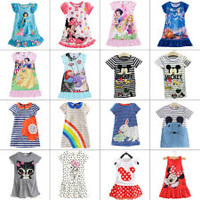 Kids Baby Girls Disney Cartoon Minnie Mouse T-Shrit Dress Pajama Toddler Clothes