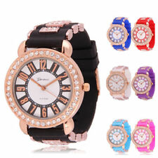Womens Watches Quartz Jelly Silicone Analog Sports New Ladies Wrist Watch