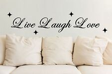 Live Laugh Love wall art sticker quote vinyl wall decoration wall decal 4 House