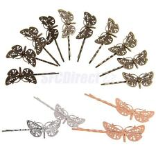 10x Vintage DIY Antique Hair Bobby Pins/Accessories Retro Grips Slides Dragonfly