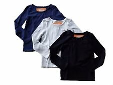 NWT Girl's Gymboree navy blue ivory black long sleeve shirt ~ 6 7 8 10 FREE SHIP