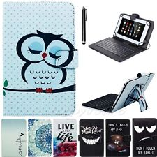 """Micro USB Keyboard Case Leather Stand Cover For 10"""" 10.1"""" inch Android Tablet PC"""