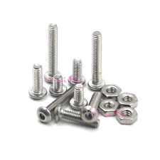 Metric Stainless Steel Thread M2.5 Allen Button Head Hex Socket Screws Nut Bolts