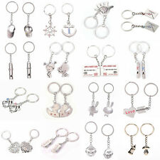 1 Pair Couple Keyring Couple Key Chain Ring Keyring Keyfob Lover Gift New