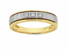 9ct Two-Tone Gold Diamond Ring