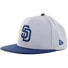"New Era 5950 ""Wool Standard"" San Diego Padres Fitted Hat (Grey/Navy) MLB Cap"