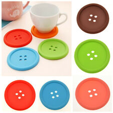 Silicone Coffee Placemat Button Coaster Cup Mug Glass Beverage Holder Pad Mat LS