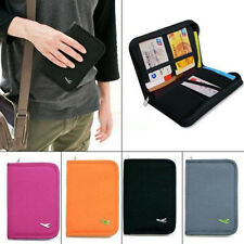 Travel Passport Credit Card Document Holder Case Bag Organizer Wallet Purse LS