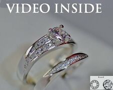 LUXE8J*Round Cut 1.20CT Fine Jewelry Fine Rings Diamond Ring F.22KT St Silver