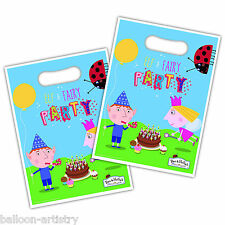8 Ben & Holly's Little Kingdom Children's Party Plastic Gift Treat Loot Bags