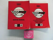 1991 CHEVROLET CORVETTE SERVICE SHOP REPAIR MANUAL & 8A ELECTRICAL SUPPLEMENT