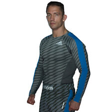 Adidas 'Ultimate' Long Sleeve MMA Rashguard - Granite/Black/Silver