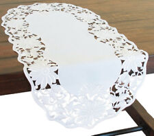 Xia Home Fashions Daisy Garden Embroidered Cutwork Table Runner