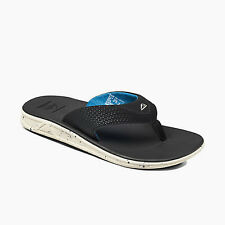 Reef Men's Reef Rover Prints Flip Flops Sandals Black