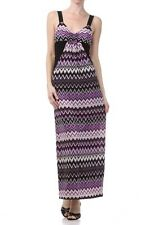 PRETTY YOUNG THING Purple Shoulder Strap Zigzag Print Maxi Long Dress