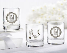 36 Personalized Boho Chic Shot Glass Candle Votive Holder Wedding Party Supply