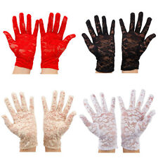 New Women's Hand Wrap Full Finger Lovely Lace Wrist Gloves Mittens Wedding Party