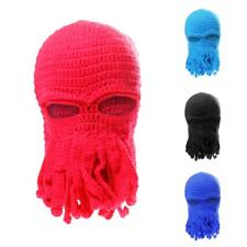 2016 Popular Unisex Tentacle Octopus Knit Beanie Hats Wind Ski Mask Cosplay Caps