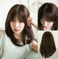 Fashion Women Medium Straight Natural Full Wig Synthetic Hair Cosplay Party Wig