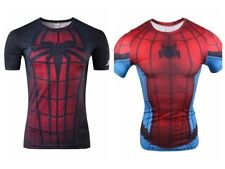 Superhero Spiderman Compression Tee T-shirts Short Sleeve Sport Bicycle Jersey