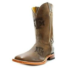 Nocona Texas A&M Branded Men  Square Toe Leather Brown Western Boot