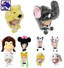 Cartoon Animal Hat Cute Fluffy Plush Warm Cap Scarf Head Earmuff Unisex CAHAT78