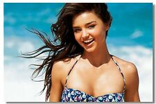 Poster Silk Miranda Kerr Sex Girl Super Model Room Art Wall Cloth Print 211