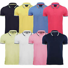 Mens Brave Soul Polo Shirt T-shirt Cotton Short Sleeve Tipped All Sizes S M L XL
