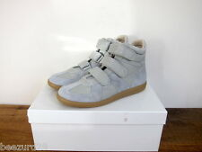 *NEW* MAISON MARTIN MARGIELA 3-STRAP VELCRO HIGH SNEAKERS (DOVE GREY, SZ 40 41)