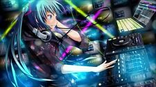 "Hatsune Miku Vocaloid Anime Fabric Art Cloth Poster 24x13 32x18 43x24"" Decor 25"